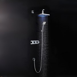 Shower Tap - Contemporary - LED / Rain Shower / Handshower Included - Brass (Chrome)