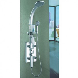 Contemporary Wall Mount Painting Finish Shower Panel Tap with Body Sprays