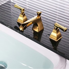 Shower Tap / Bathtub Tap / Bathroom Sink Tap-Contemporary-Waterfall-Brass(Gold)