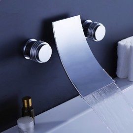 Bathtub Tap - Contemporary - Waterfall - Brass (Chrome)