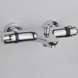 Bathtub Tap - Contemporary - Thermostatic - Brass (Chrome)