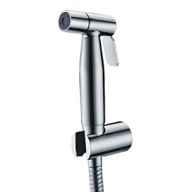 Contemporary Stainless Steel Chrome Finish Bidet Tap Without Supply Hose And Shower Holder