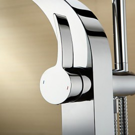 Tub Tap Centerset with Chrome Single Handle One Hole