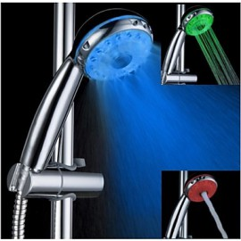 3 Running Mode Multi-function Color Changing LED Shower Head Rain Shower