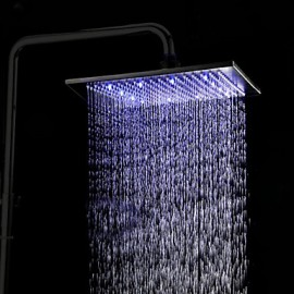 12 inch Stainless Steel Oil Rubbed Bronze Shower Head with Color Changing LED Light