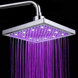 Monochrome LED Shower Nozzle Top Spray Shower Nozzle (Pink)