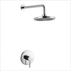 "In Wall Mounted Concealed Shower Set With 8"" ABS Rain Shower"