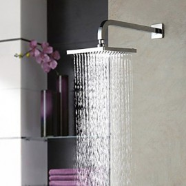 8 inch A Grade ABS Contemporary High-Quality Fashion Durable Chrome Finish Square Shower Head - Silver