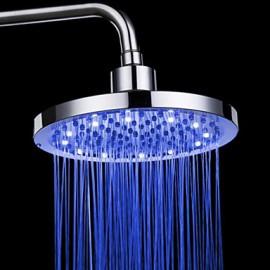 Monochrome LED Shower Nozzle Top Spray Shower Nozzle (Blue) (8 Inch)