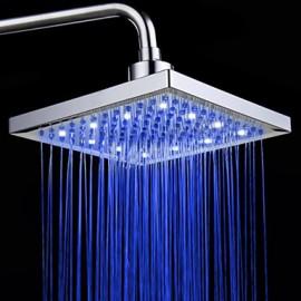 Monochrome LED Shower Nozzle Top Spray Shower Nozzle (Blue)