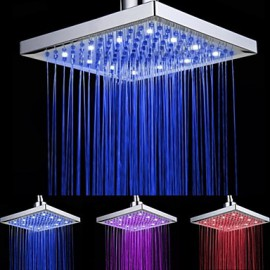 Shower Faucet Contemporary LED / Waterfall / Rain Shower A Grade ABS Plastic Chrome