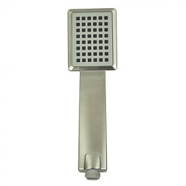Contemporary ABS Rectangle Handle Shower Head-Nickel Brushed Finish