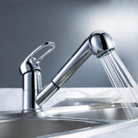 Kitchen Tap Centerset / Pull out with Chrome Single Handle One Hole