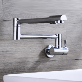 Wall Mounted Single Handle One Hole with Chrome Kitchen Tap
