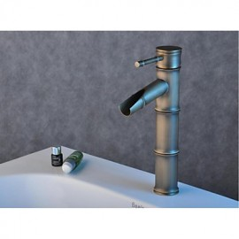 Antique Brass Finish Single Hole Single Handle Bathroom Basin Faucet