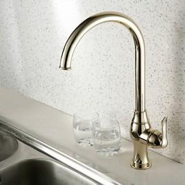 Ti-Pvd Brass Finish Single Hole Single Handle Kitchen Faucet