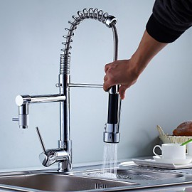 Kitchen Tap Contemporary Pre Rinse / Pullout Spray Brass Chrome