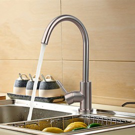Deck Mounted Single Handle One Hole with Nickel Brushed Kitchen Tap