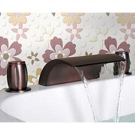 Oil Rubbed Bronze Waterfall Bathroom Sink Tap