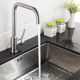 Deck Mounted Single Handle One Hole Stainless Steel Kitchen Tap