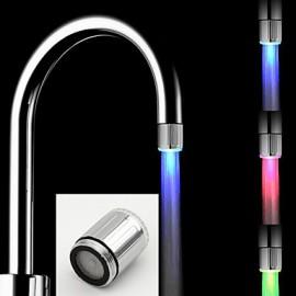 Battery-Free Stylish Water Powered Kitchen Colorful LED Tap Light
