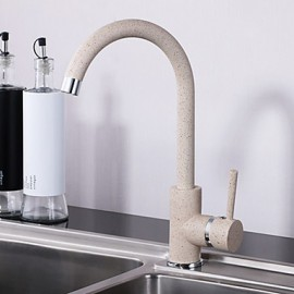 Contemprorary Painting Single Handle Deck Mounted Kitchen Tap Mixer