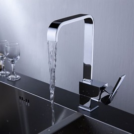 Kitchen Tap Centerset with Chrome Single Handle One Hole
