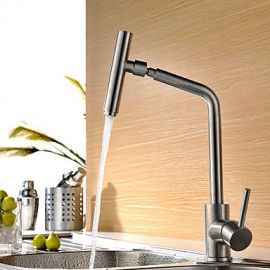 High Quality Fashion Brushed Finish Stainless Steel 360 Degree Rotatable Kitchen Sink Tap