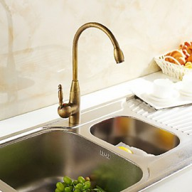 Deck Mounted Single Handle One Hole with Antique Bronze Kitchen Tap