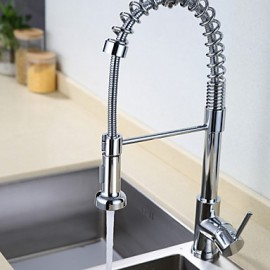 Kitchen Tap Contemporary Pullout Spray Brass Chrome Kitchen Sink Tap Mixer
