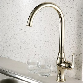 Deck Mounted Single Handle One Hole with Ti-PVD Kitchen Tap