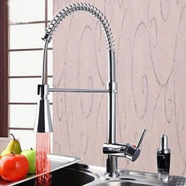 Deck Mounted Single Handle One Hole with Chrome Kitchen Tap