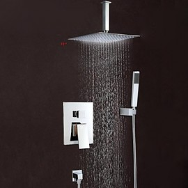"Wall Mounted Rain Shower Tap Set 12""Square Shower Head Bathroom Mixer Taps"