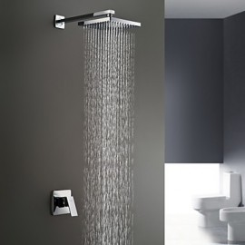 Shower Tap Wall Mount with Chrome Single Handle Two Holes