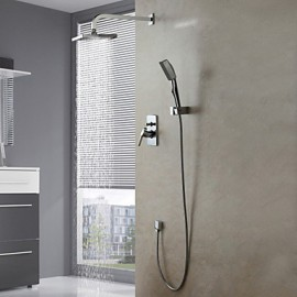 Shower Tap Set Wall Mount Contemporary Chrome