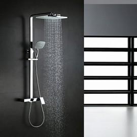 Shower Tap Contemporary Waterfall / Rain Shower / Handshower Included Brass Chrome