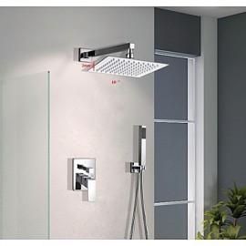 "10""unleaded Square Head Wall Mount Brass Mixer Valve handheld Bathroom Shower set"