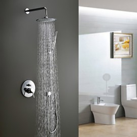 Contemporary Shower Tap with 8 inch Shower Head + Hand Shower