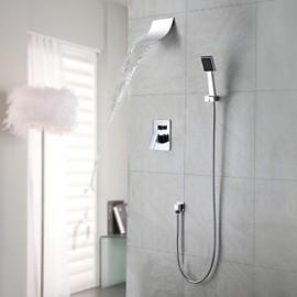 Shower Tap / Bathtub Tap Contemporary Waterfall / Rain Shower / Handshower Included Brass Chrome