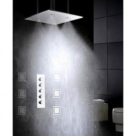 Shower Tap Contemporary LED / Rain Shower / Sidespray / Handshower Included Brass Chrome