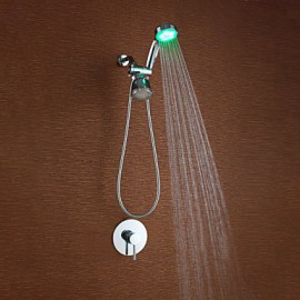 Shower Tap - Contemporary - LED / Handshower Included - Brass (Chrome)