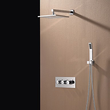Contemporary Chrome Brass Shower Tap with Air Injection Technology ...