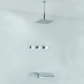 Shower Tap / Bathtub Tap - Contemporary - Rain Shower / Waterfall - Stainless Steel (Chrome)