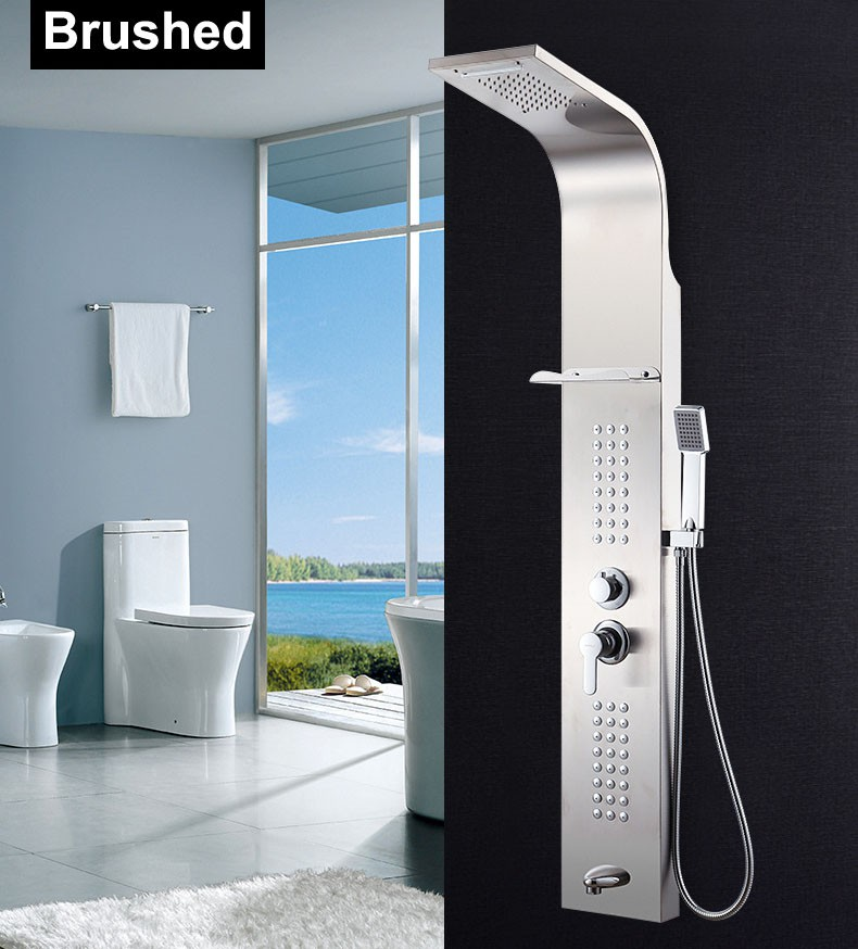 10 Inch In Wall Bathroom Rainshower Set Shower Panel Rainfall ...