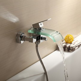 Bathtub Tap / Shower Tap - Contemporary - Waterfall - Brass (Chrome)