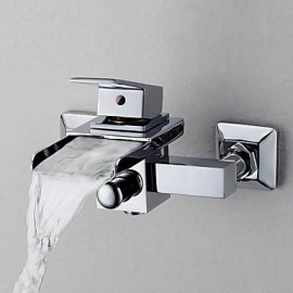 Contemporary Waterfall Tub Tap - Wall Mount