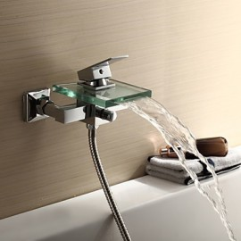 Shower Tap / Bathtub Tap - Contemporary - Waterfall - Brass (Chrome)