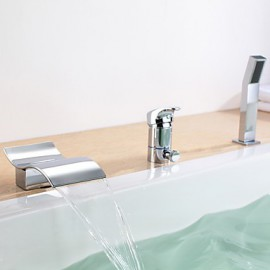 Bathtub Tap - Contemporary - Waterfall / Handshower Included Chrome)