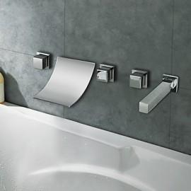 Bathtub Tap - Contemporary - Waterfall - Brass (Chrome)
