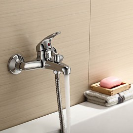 Bathtub Tap / Shower Tap - Contemporary Brass (Chrome)
